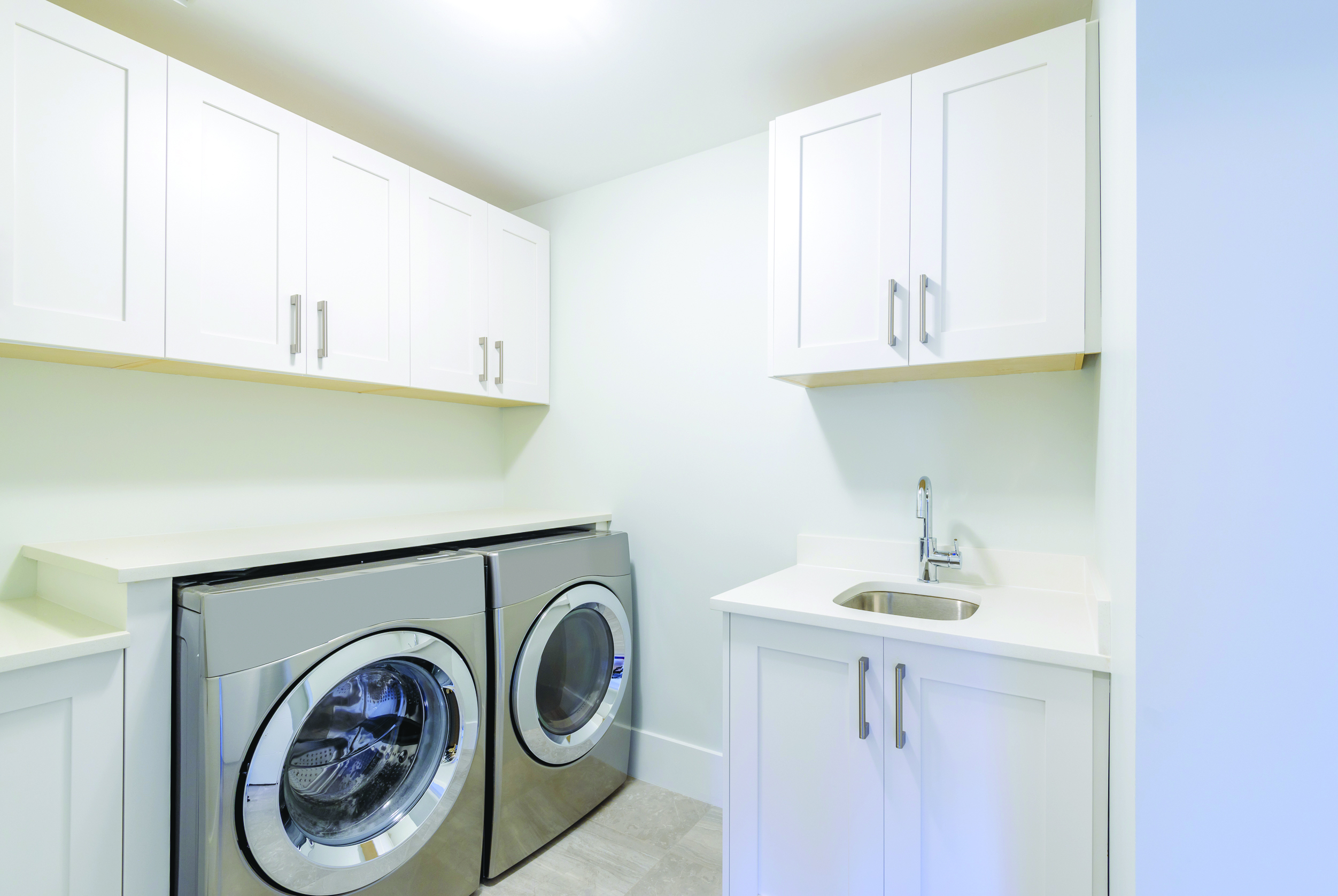 Storage space light laundry room